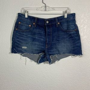 Levi's Shorts - Levi's 501 Distressed Button Up Fly Shorts Size 32